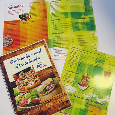Euro Kebab | Speisekarte | Gestaltung & Druck