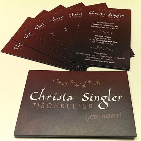 Christa Singer | Logodesign & Geschäftsausstattung | Gestaltung & Druck
