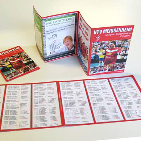 HTV Meissenheim | Spielplan | Gestaltung & Druck