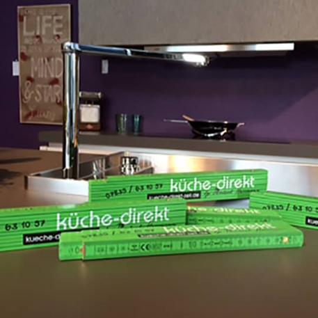 Küche Direkt | Zollstöcke | Gestaltung & Druck