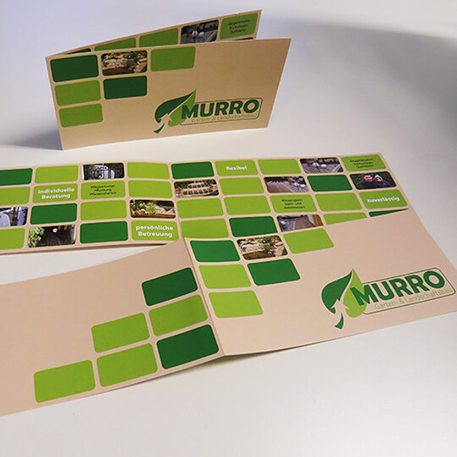 Murro | Faltblatt | Gestaltung & Druck