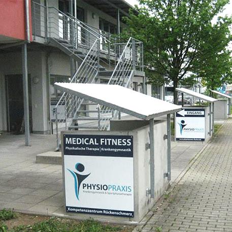 PhysioPraxis Fischer | Firmenschild | Gestaltung & Druck